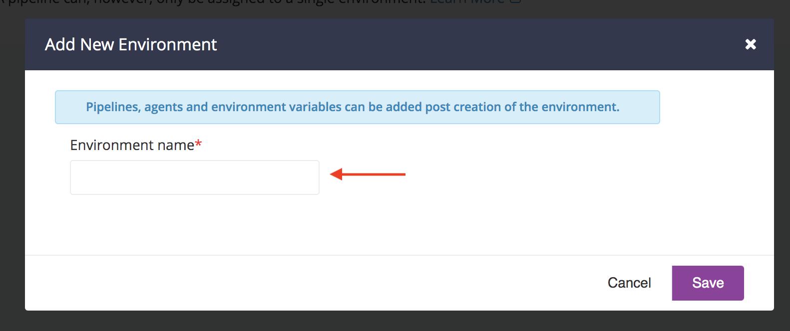 Managing Environments | GoCD User Documentation