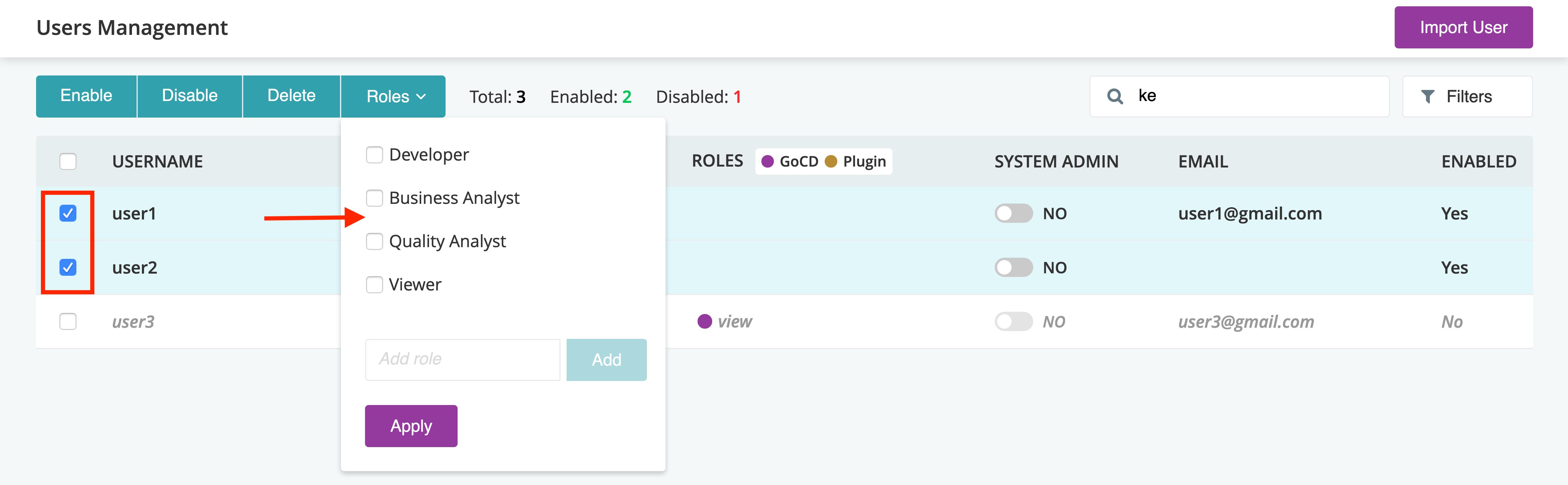 Managing Users   GoCD User Documentation